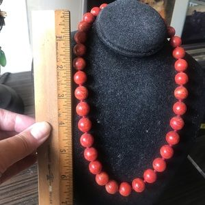 🌺Coral Bead Necklace